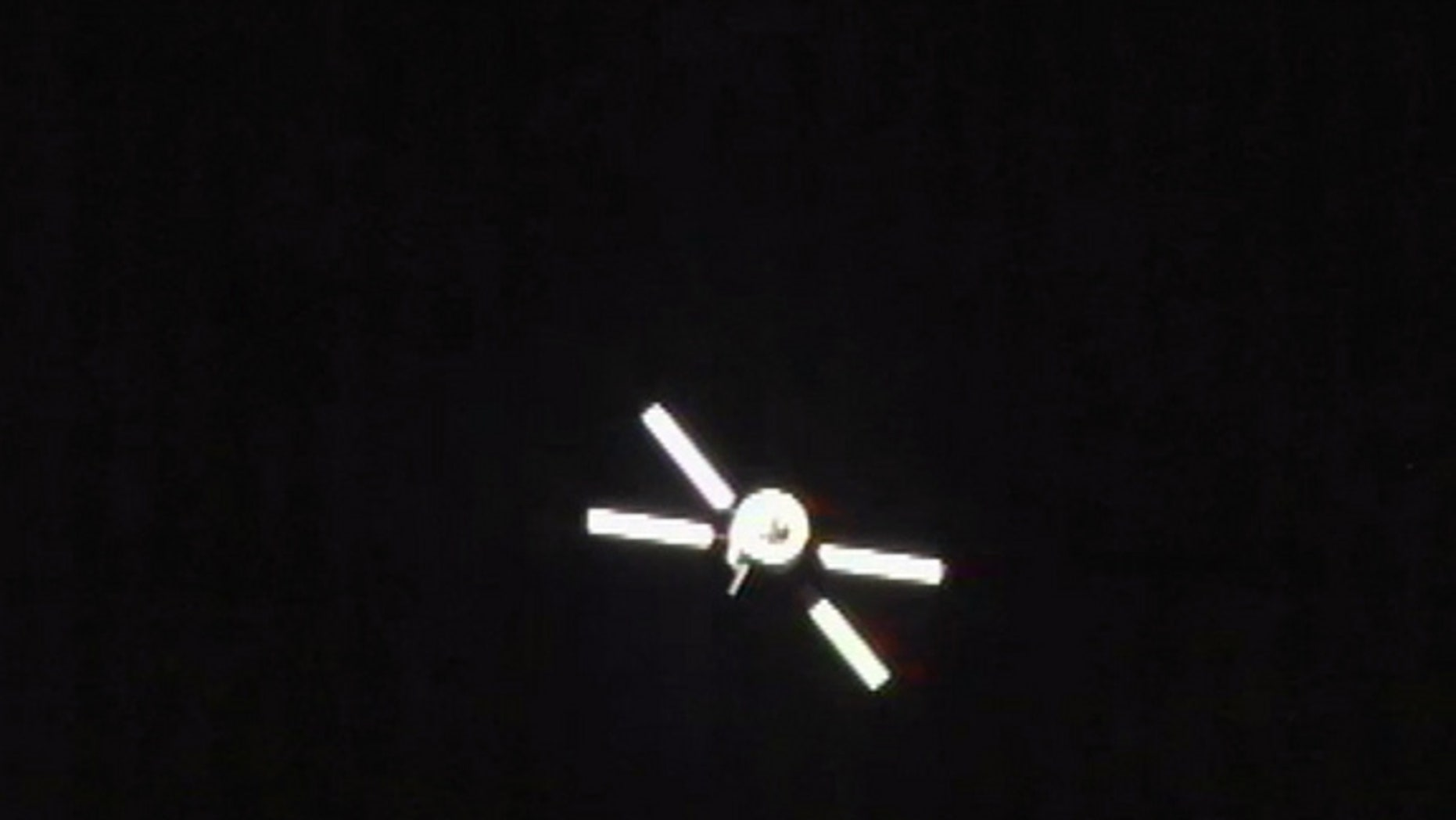 The European Space Agency's ATV-3 Edoardo Amaldi supply ship is seen undocking from the International Space Station on Sept. 28, 2012, in this still image from a video camera on the station.