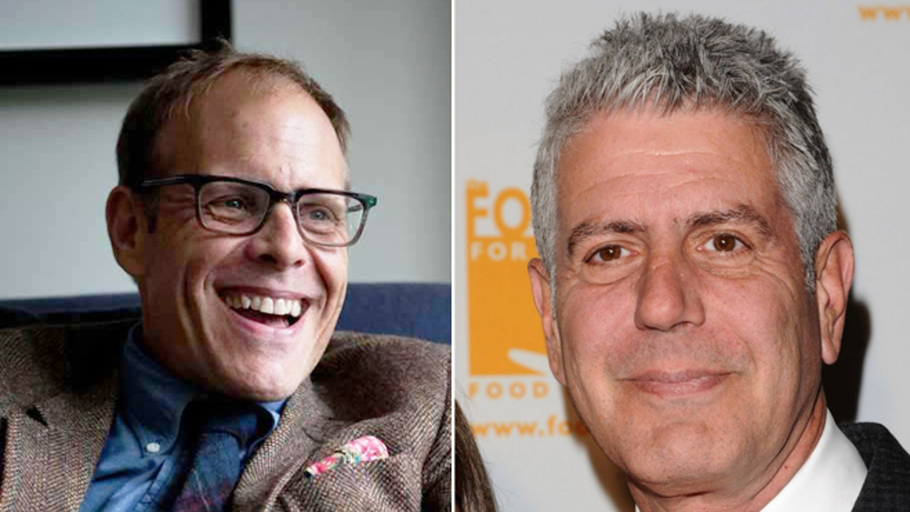 Alton Brown says he hasn't seen Anthony Bourdain wield a knife in the kitchen for quite some time.