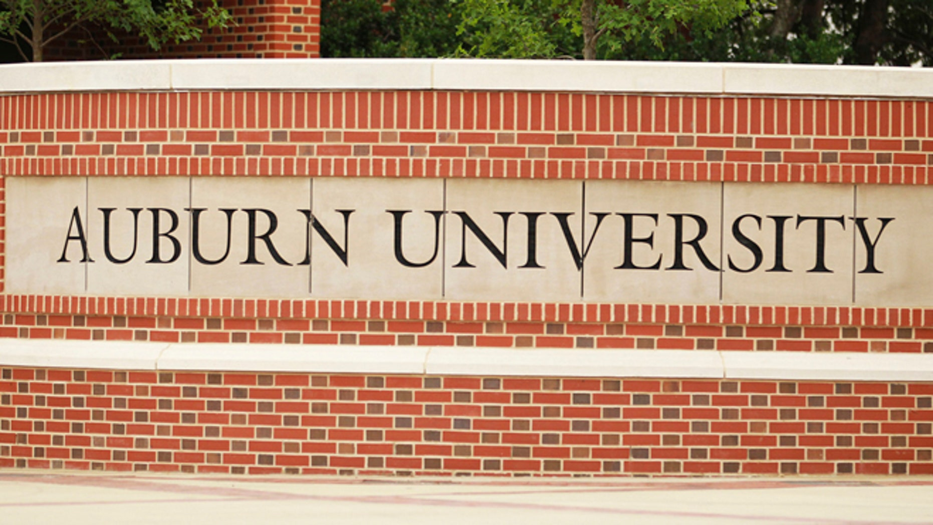 FILE: A sign shows the entrance to Auburn University in Auburn, Alabama