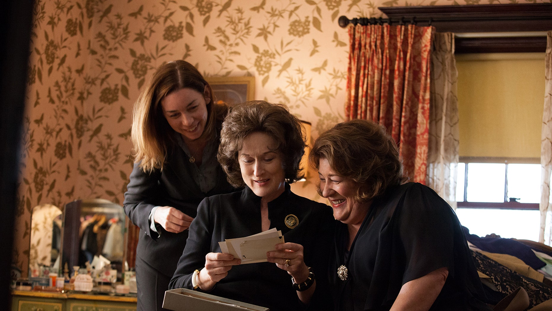 """This publicity image released by The Weinstein Company shows, from left, Julianne Nicholson, Meryl Streep and Margo Martindale in a scene from """"August: Osage County."""""""