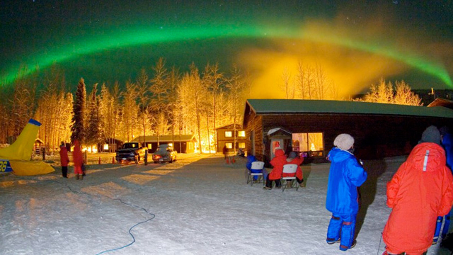 Thanks to its proximity to the North Pole, and the lack of urban light pollution, Chena Hot Springs Resort is one of the best places to take in the Aurora Borealis.