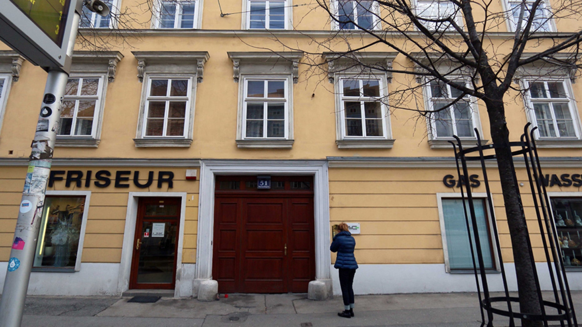 Jan. 28, 2016: An apartment building is pictured where a 25-year old woman from Colorado, United States, has been found dead in Vienna, Austria.
