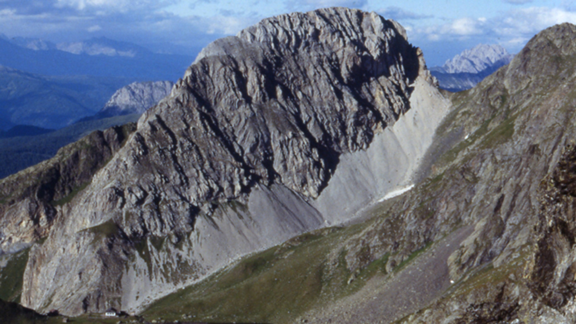 This undated photo provided by the community of Kartitsch shows the 2,600 meters (over 8,500 feet) high Rosskopf mountain in Kartisch, eastern Tyrol, Austria, that was for sale along with a neighboring mountain. Austria's government on Tuesday, June 14, 2011 postponed the planned sale of the two alpine summits after an outpouring of national outrage. Austria's privatization agency announced a decision after an emergency meeting between Economics Minister Reinhold Mitterlehner and top officials in charge of selling of national property to the private sector. (AP Photo/Community of Kartitsch)