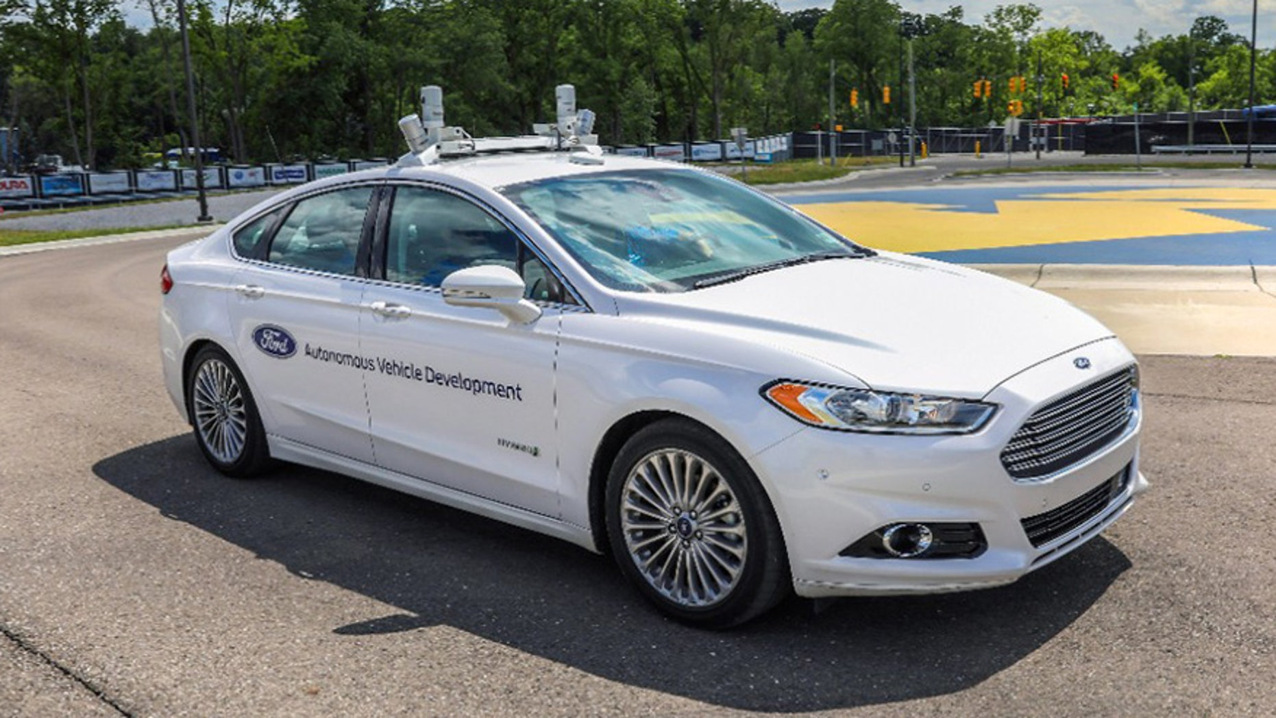 Autonomous Ford Fusion test vehicle