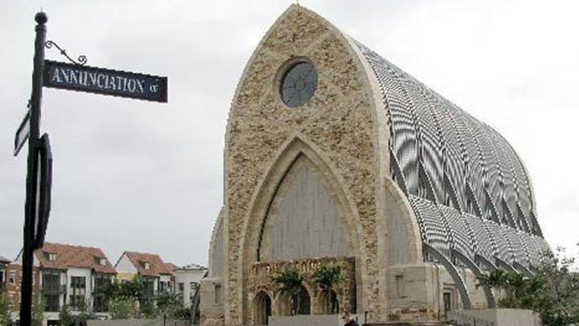 March 4, 2009: The church on the Ave Maria University campus is seen in Immokalee, Fla.