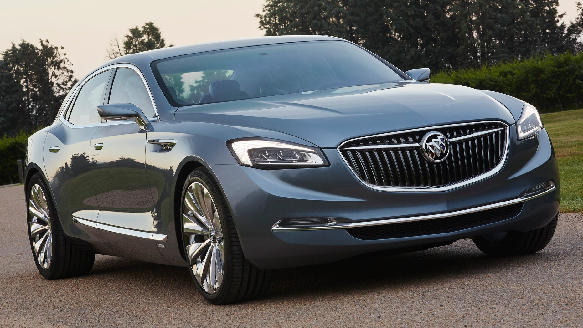 The Avenir is distinguished by its premium sports proportions and all-new interpretations of traditional Buick cues.