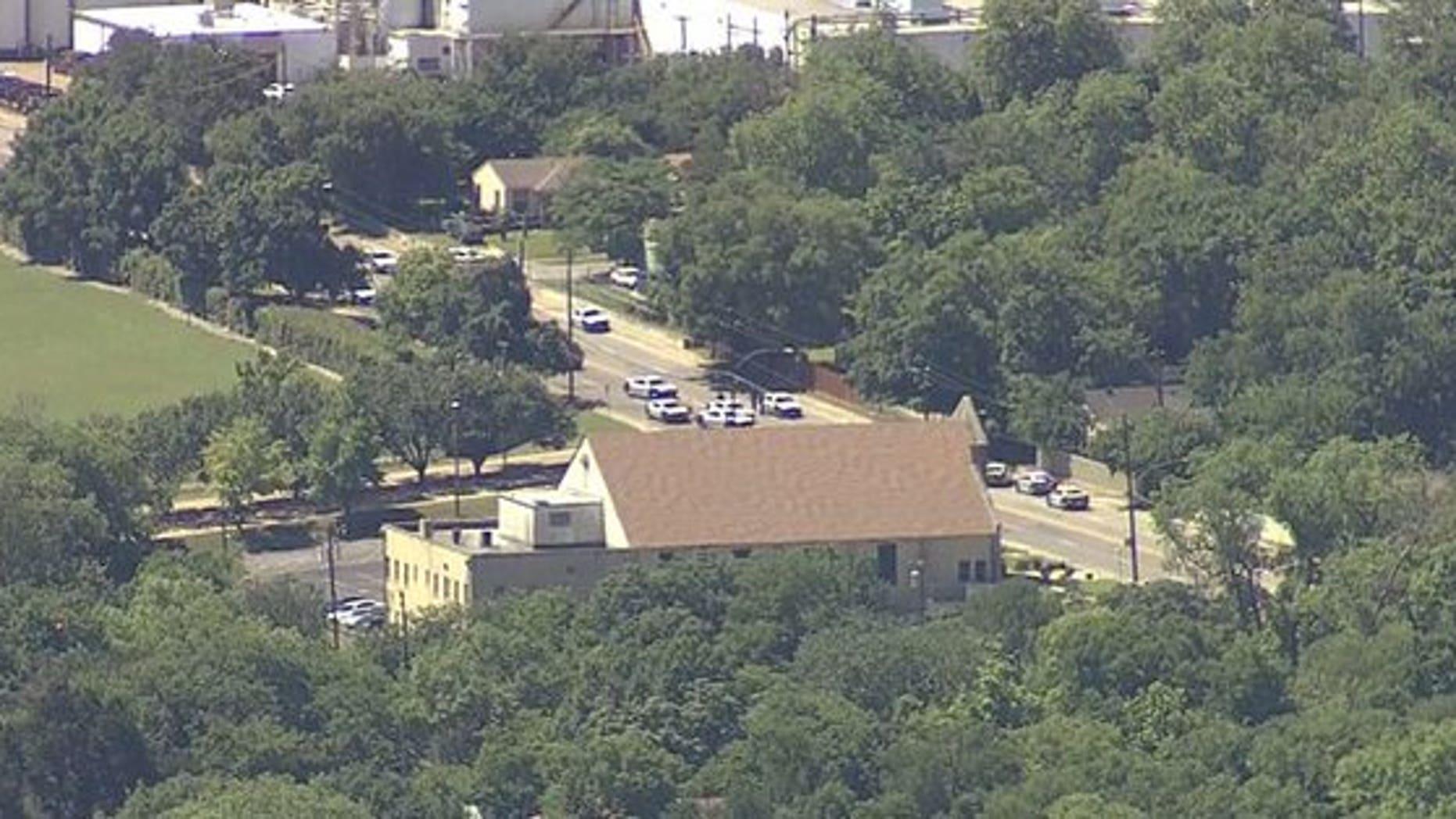 The shooting scene in Dallas.