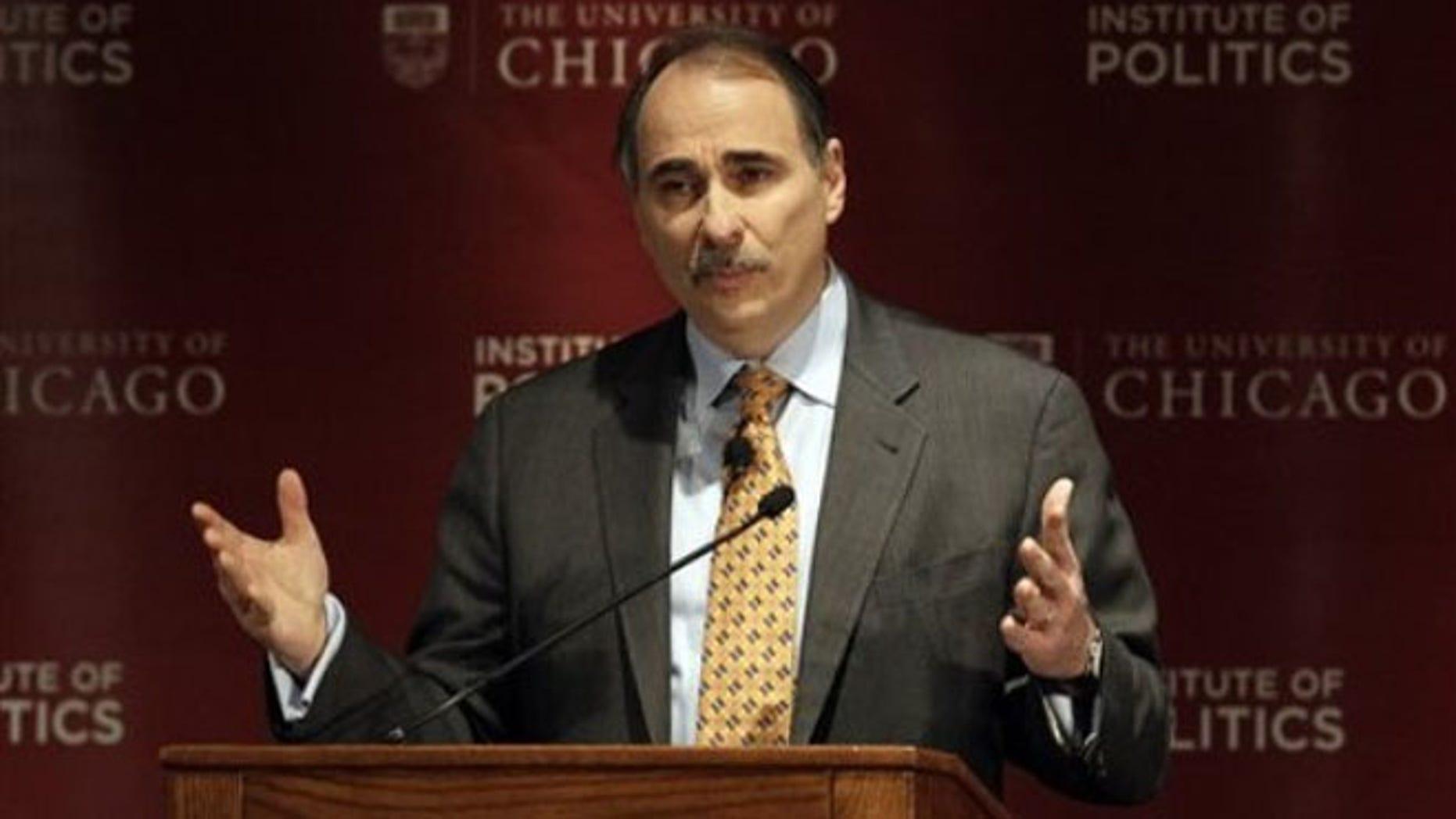 Jan. 19, 2012: David Axelrod, senior adviser to President Obama, speaks during a panel discussion in Chicago.