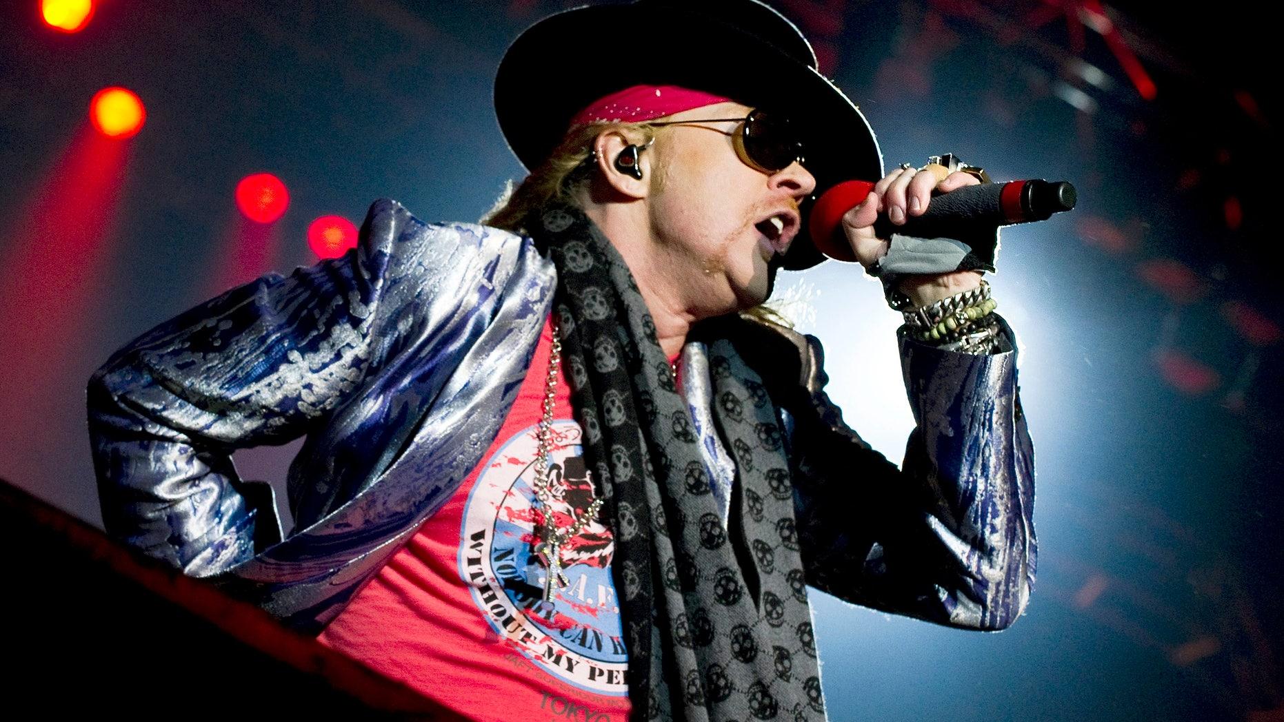 June 12, 2010. Axl Rose performs during the Sweden Rock Festival 2010 in Solvesborg, Sweden.