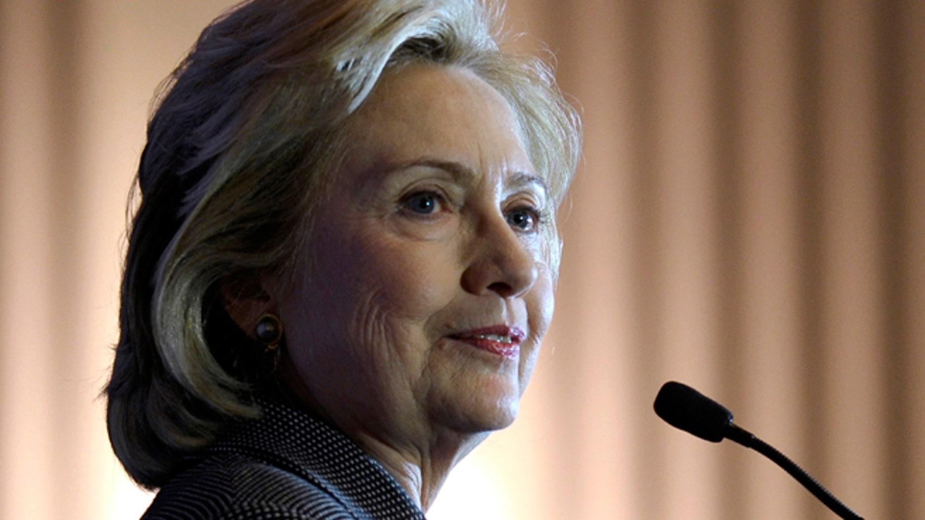 Former Secretary of State Hillary Rodham Clinton.