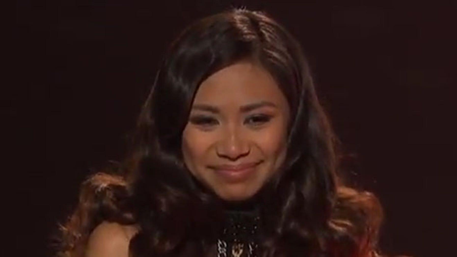 Jessica Sanchez on American Idol.