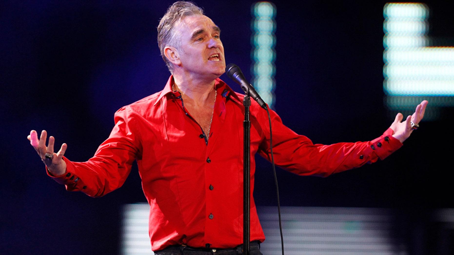 British singer-songwriter Morrissey performs.