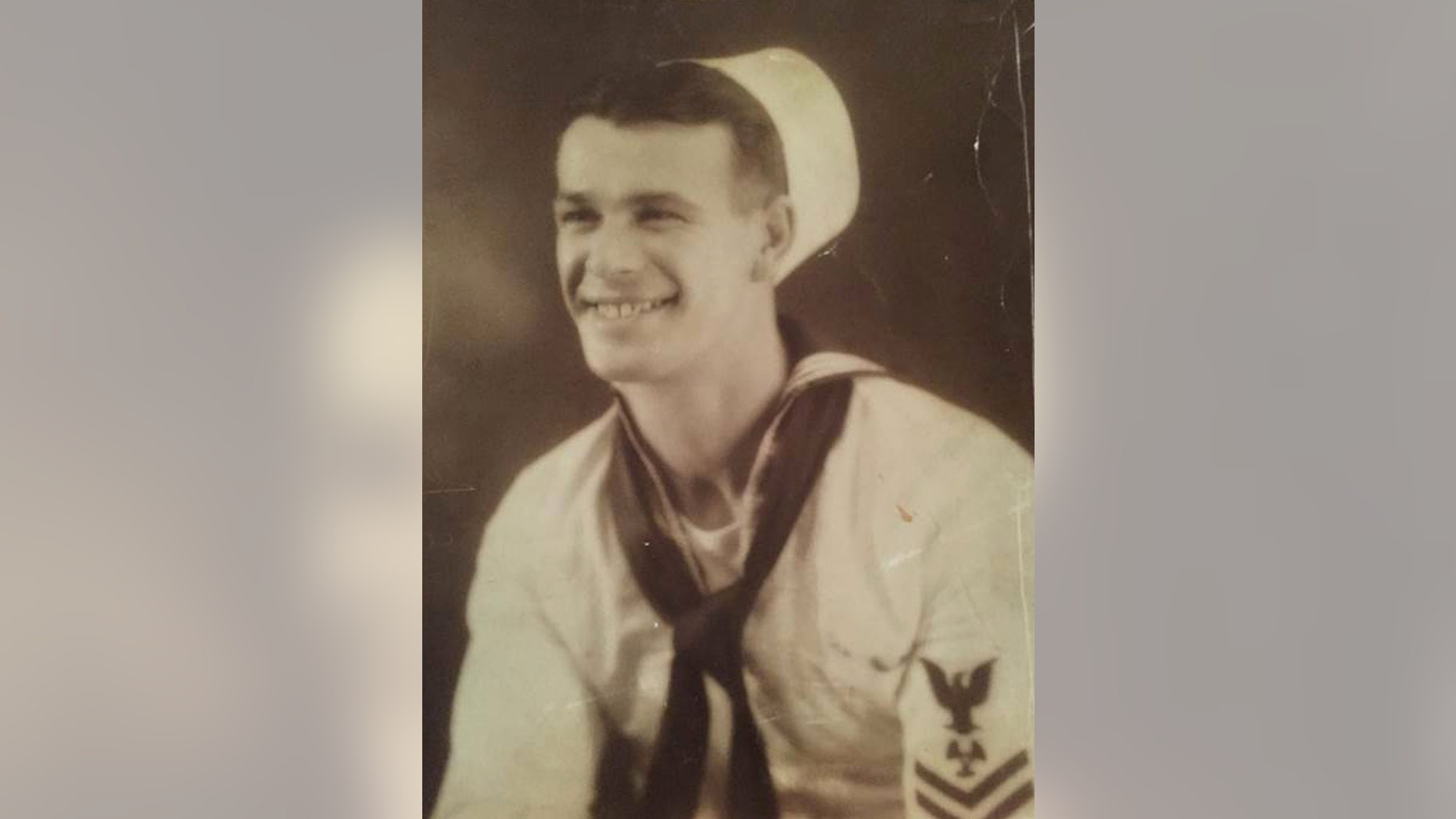 Alfred Wells of Syracuse is seen in an undated photo provided by his grandaughter, Shannon Enochs. Wells of Syracuse was 32 when he was among the 429 crewmembers of the USS Oklahoma killed on Dec. 7, 1941.  The remains of Wells are scheduled to arrive in his upstate hometown of Syracuse for burial Friday, June 10, 2016. His funeral service is Saturday followed by burial in a veterans cemetery in Syracuse. (Shannnon Enochs via AP)