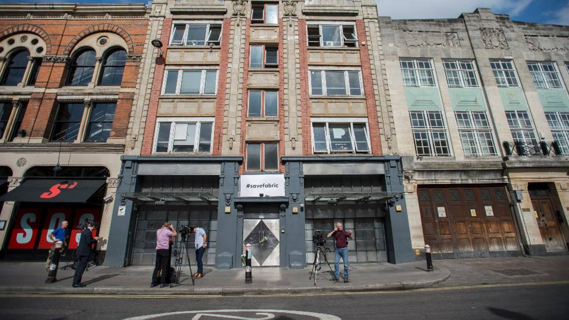 """A general view of Fabric nightclub in London Wednesday Sept. 7, 2016. London's mayor says the city's status as a nightlife hub is under threat, after one of its most famous nightclubs was ordered to close following drug-related incidents. Local authority Islington Council revoked the license of the Fabric nightclub on Wednesday, saying staff had failed to control a """"culture of drug use"""" on the premises.  (David Mirzoeff/PA via AP)"""