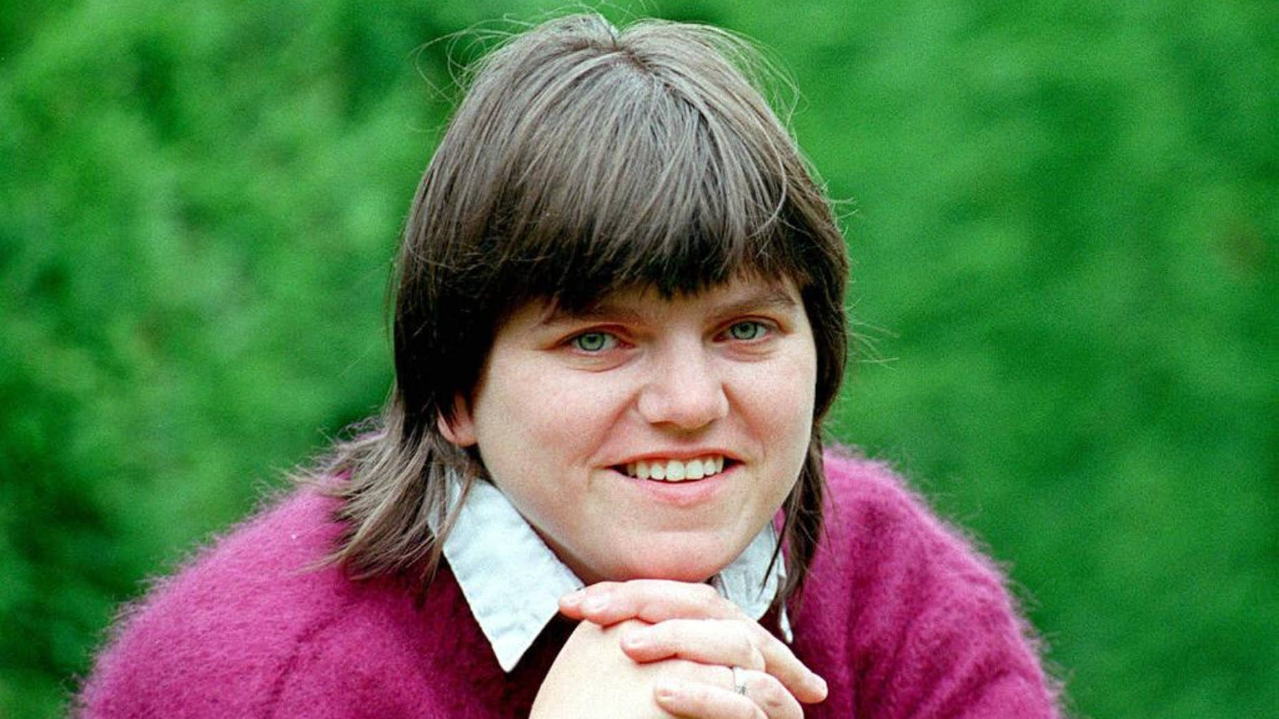 FILE - This June 14, 1997 file photo shows Jill Saward who has died aged 51. Jill Saward, a survivor of rape who became a powerful British campaigner against sexual violence, died Thursday Jan. 5, 2017 in central England, after suffering a stroke, Saward's family said. (PA via AP, File)