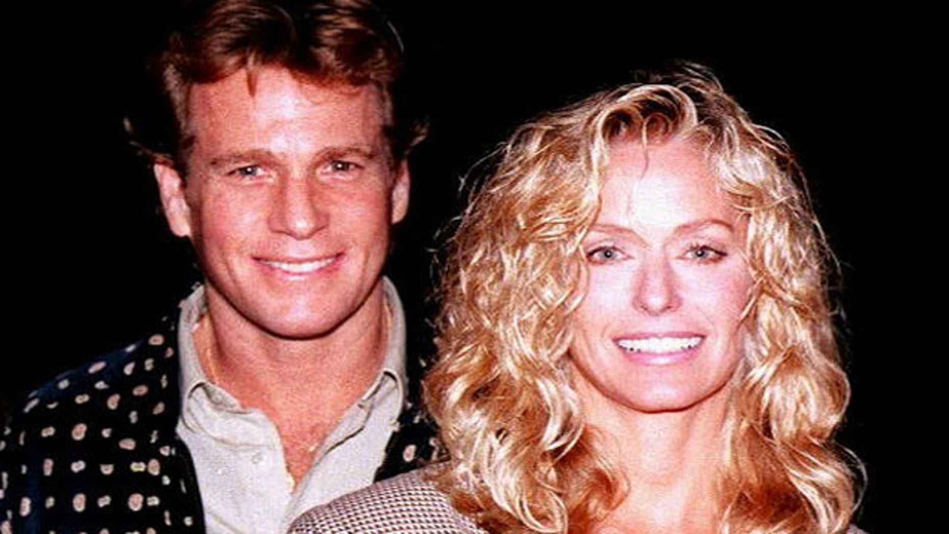 1987: Ryan O'Neal and Farrah Fawcett are seen together in a file photo.