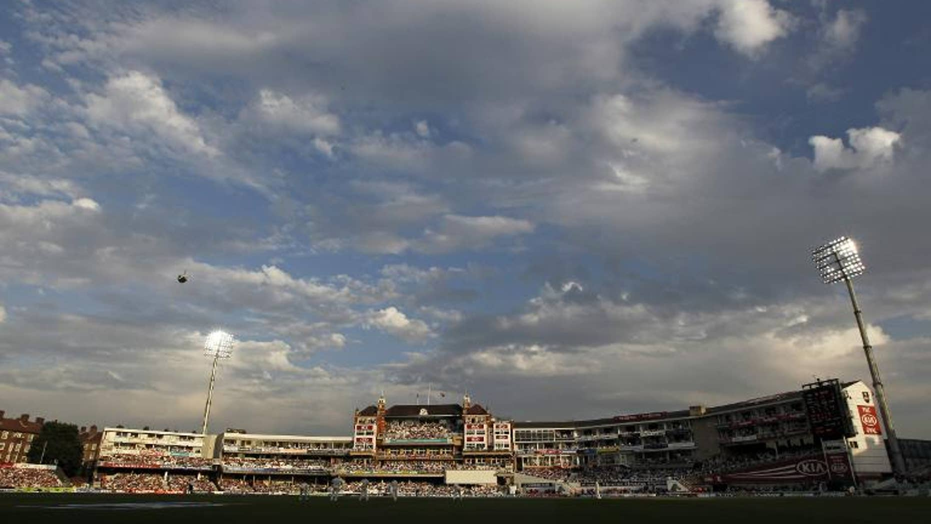 A general view of The Oval cricket ground in London on August 22, 2013.