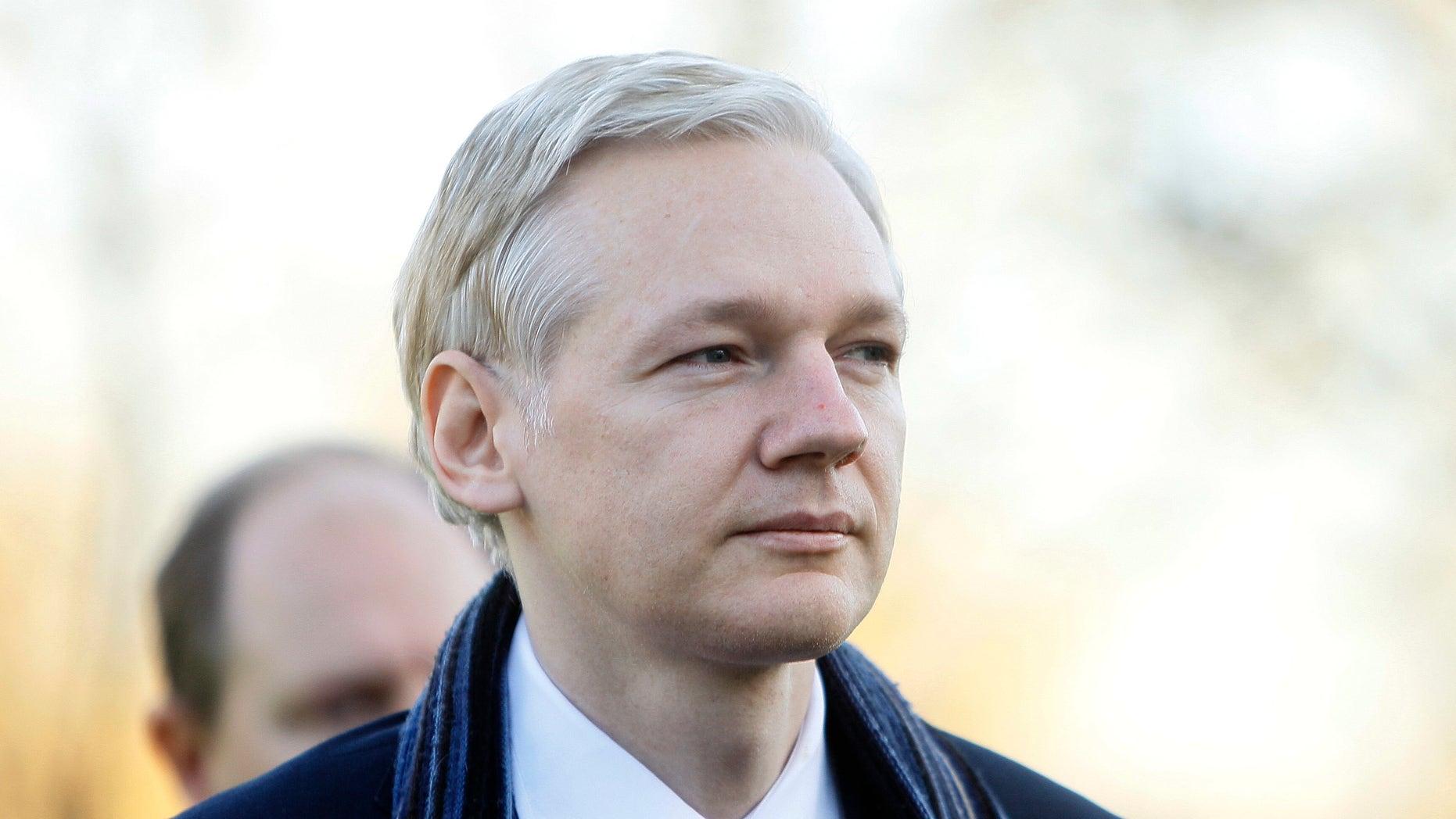 Feb. 8: WikiLeaks founder Julian Assange arrives at Belmarsh Magistrates' Court in London.