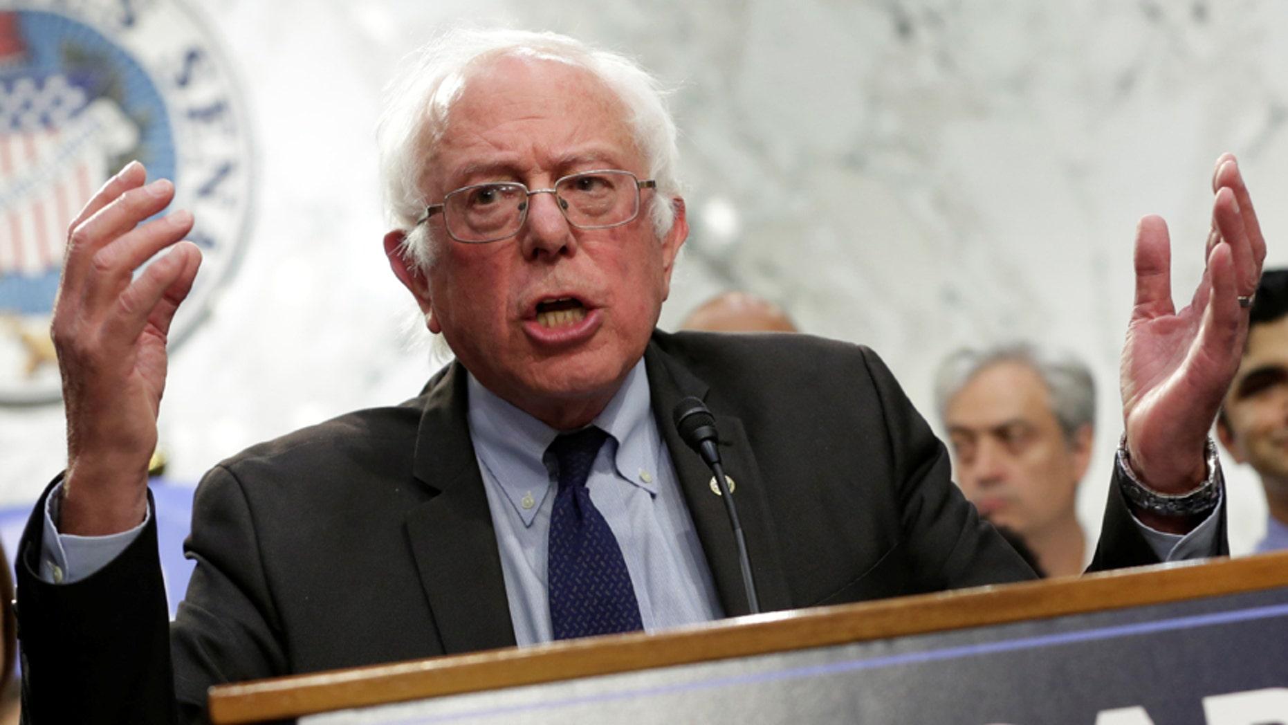 "U.S. Sen. Bernie Sanders has called New York City Mayor Bill de Blasio ""the opposite"" of President Donald Trump."