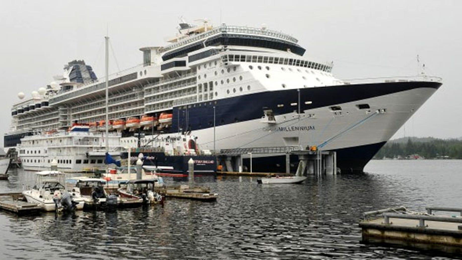 Celebrity Cruise's Millennium in Ketchikan, Alaska