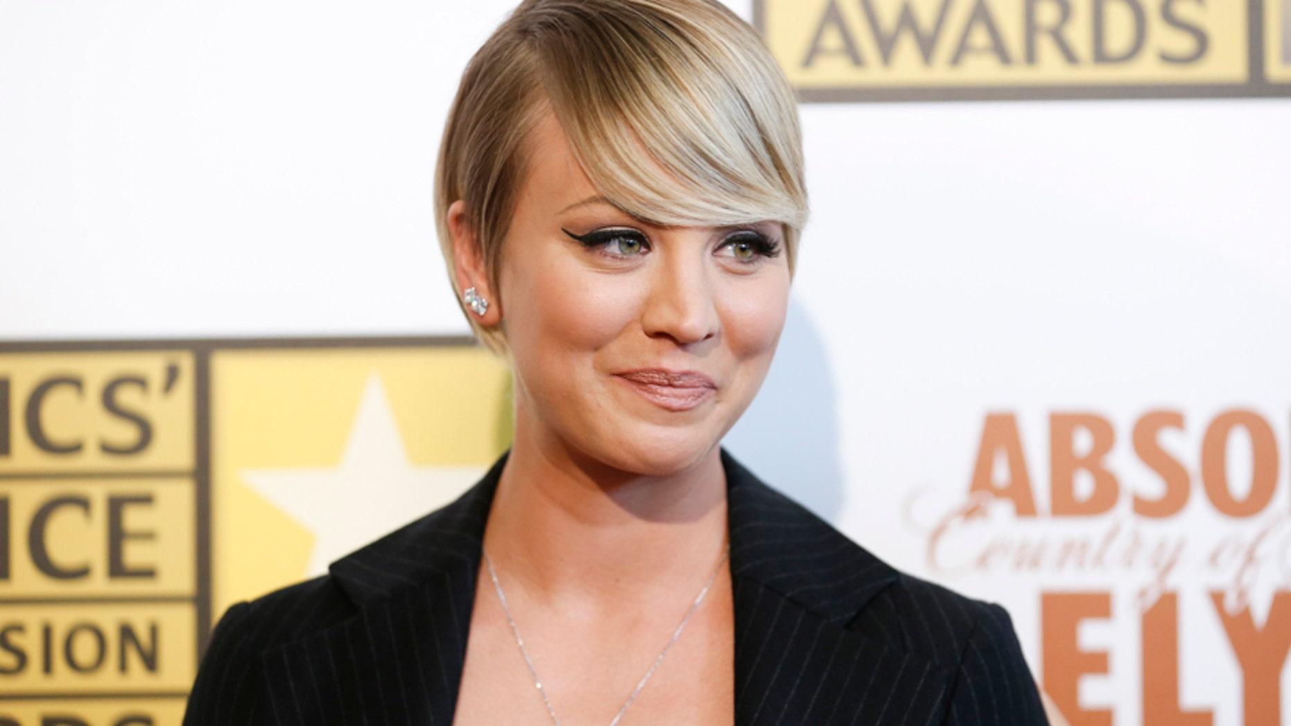Actress Kaley Cuoco.
