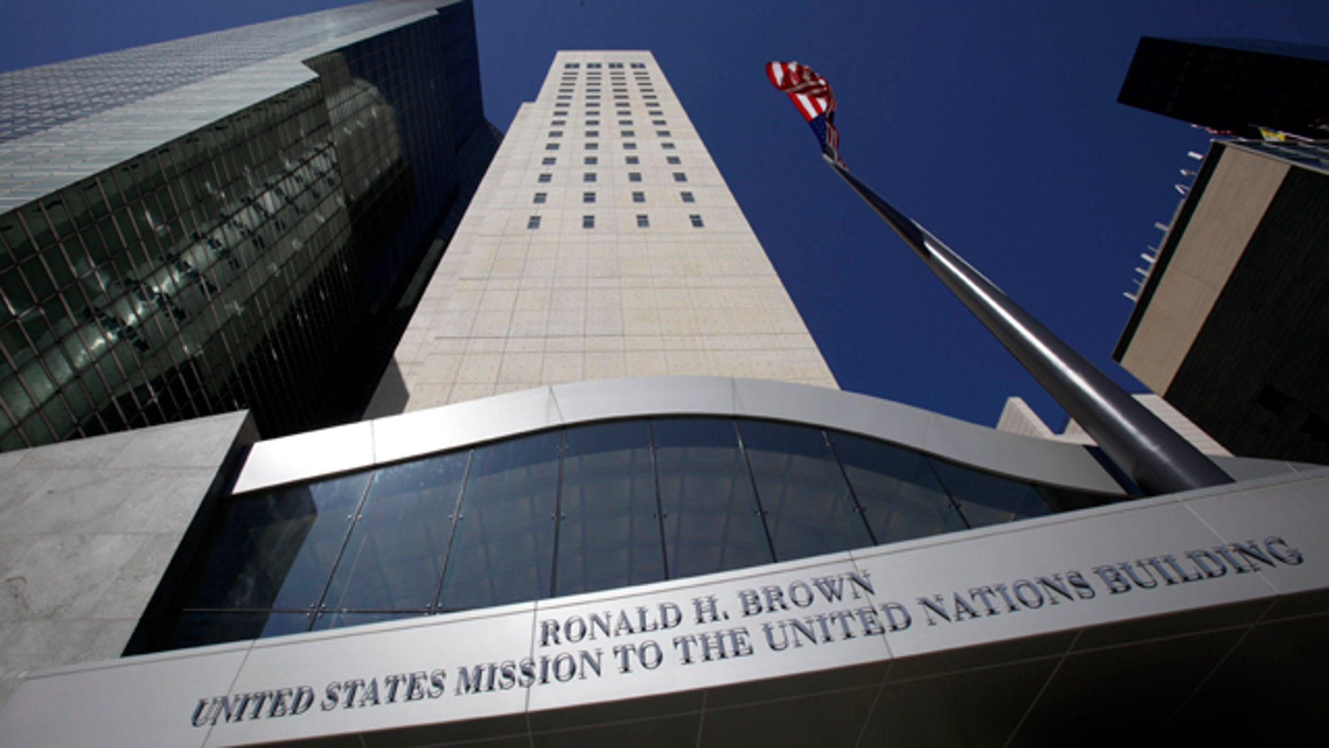 The new Ronald H. Brown United States Mission to the United Nations is seen in New York, Sunday, March 27, 2011.