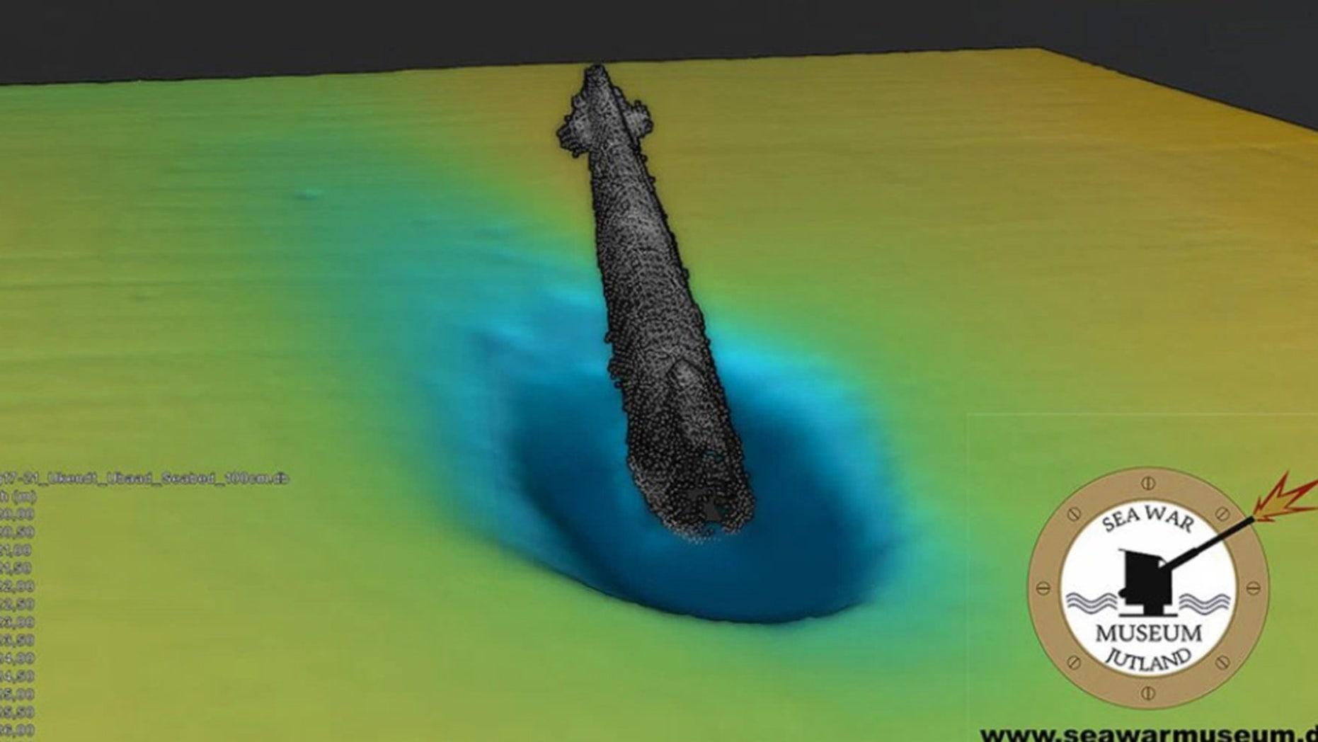 Denmark's Sea War Museum discovered the U-3523 roughly 403 feet below sea level.