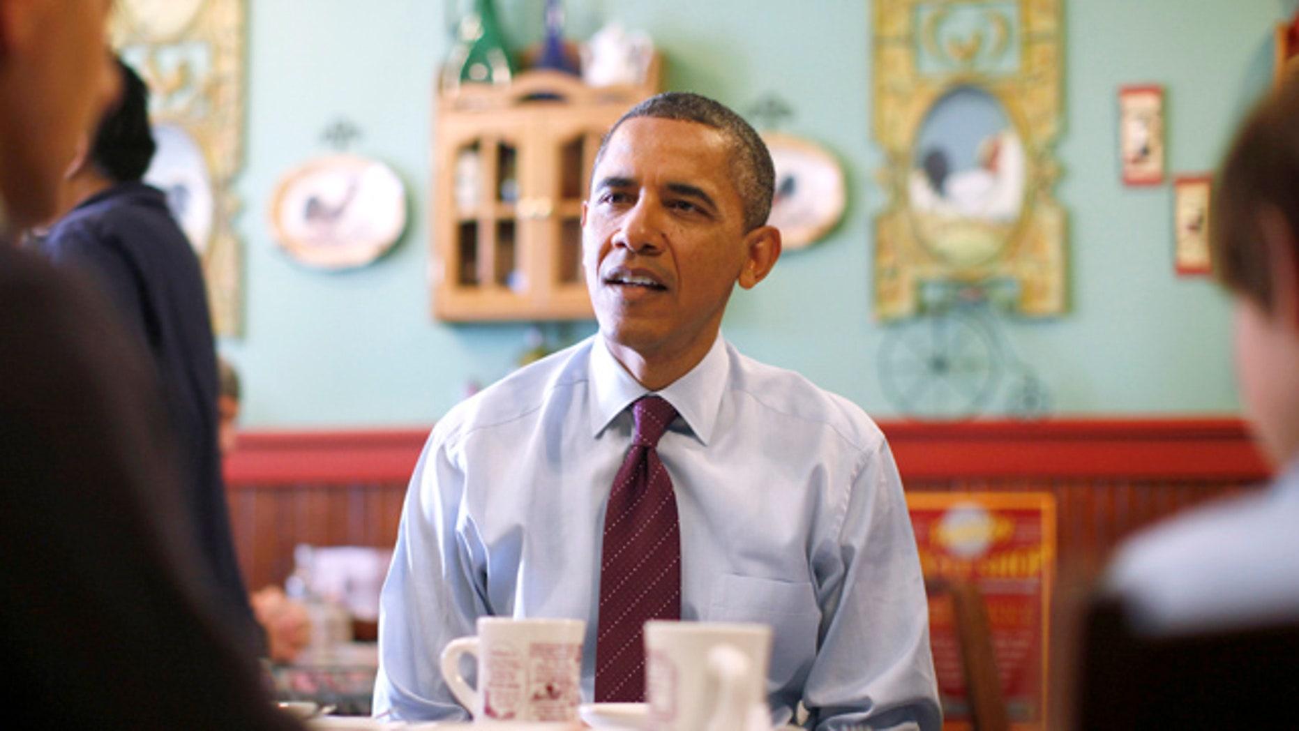 Nov. 22, 2011: President Obama visits a restaurant in Manchester, N.H.