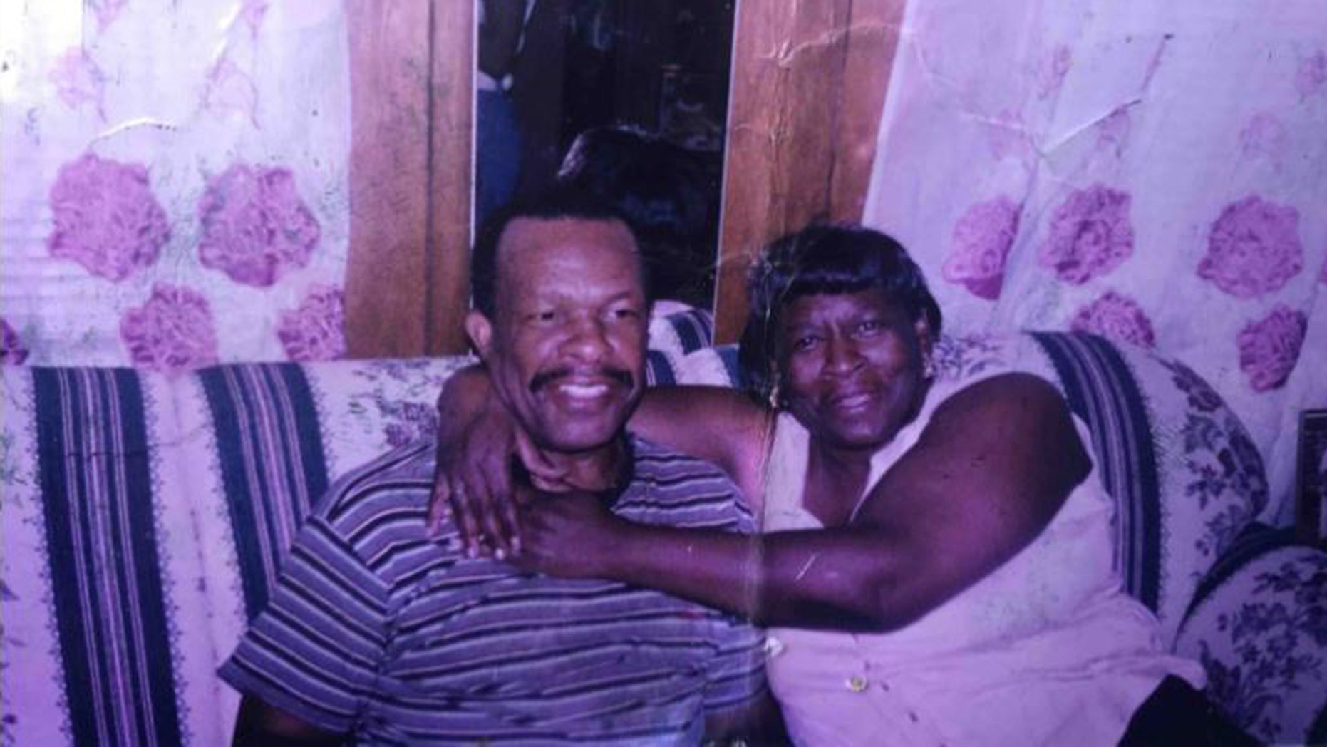 Luther Younger (L) walks miles to visit his beloved wife Waverlee in a Rochester hospital, reports said.