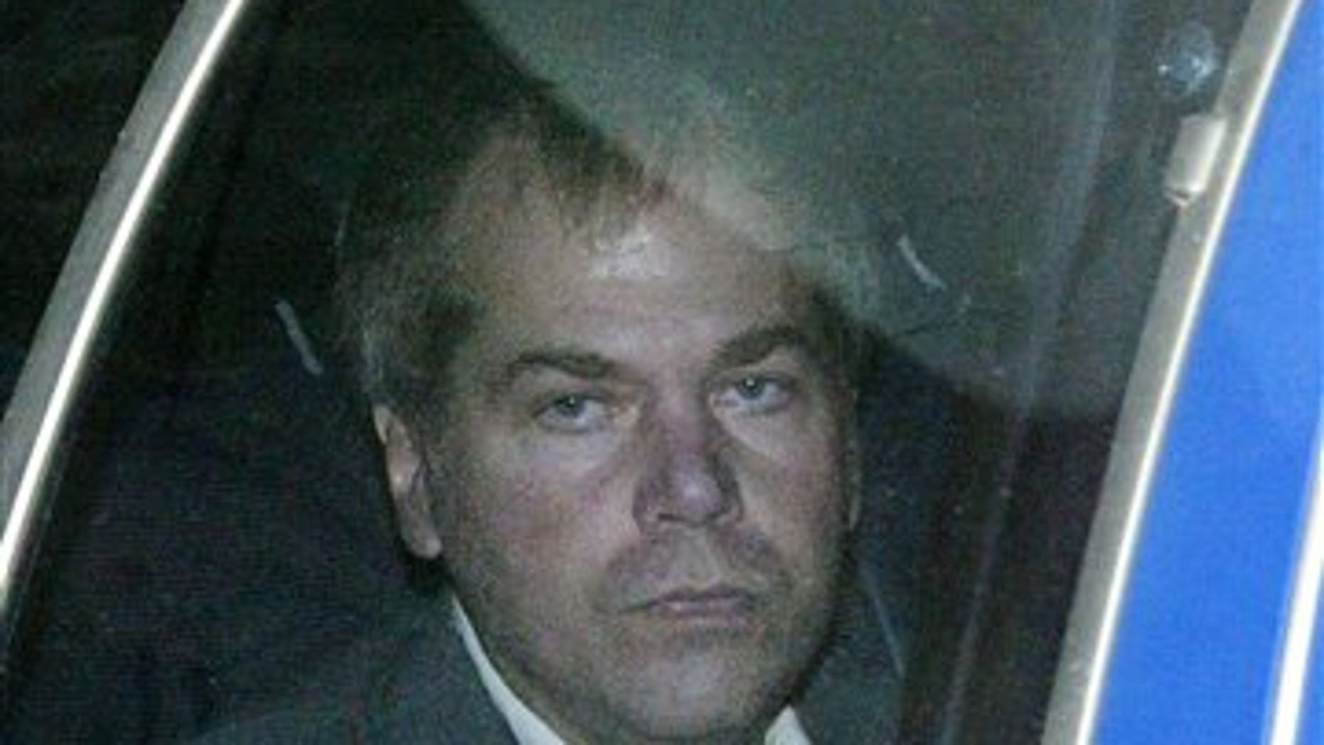 FILE - In a Nov. 18, 2003 file photo, John Hinckley Jr. arrives at U.S. District Court in Washington. Hinckley, who shot Reagan in 1981 to impress actress Jodie Foster, was found not guilty by reason of insanity in the assassination attempt. He has been held for the past three decades at a Washington psychiatric hospital, but has been granted increasing freedom in recent years as doctors say his mental illness has been in remission. (AP Photo/Evan Vucci, File)