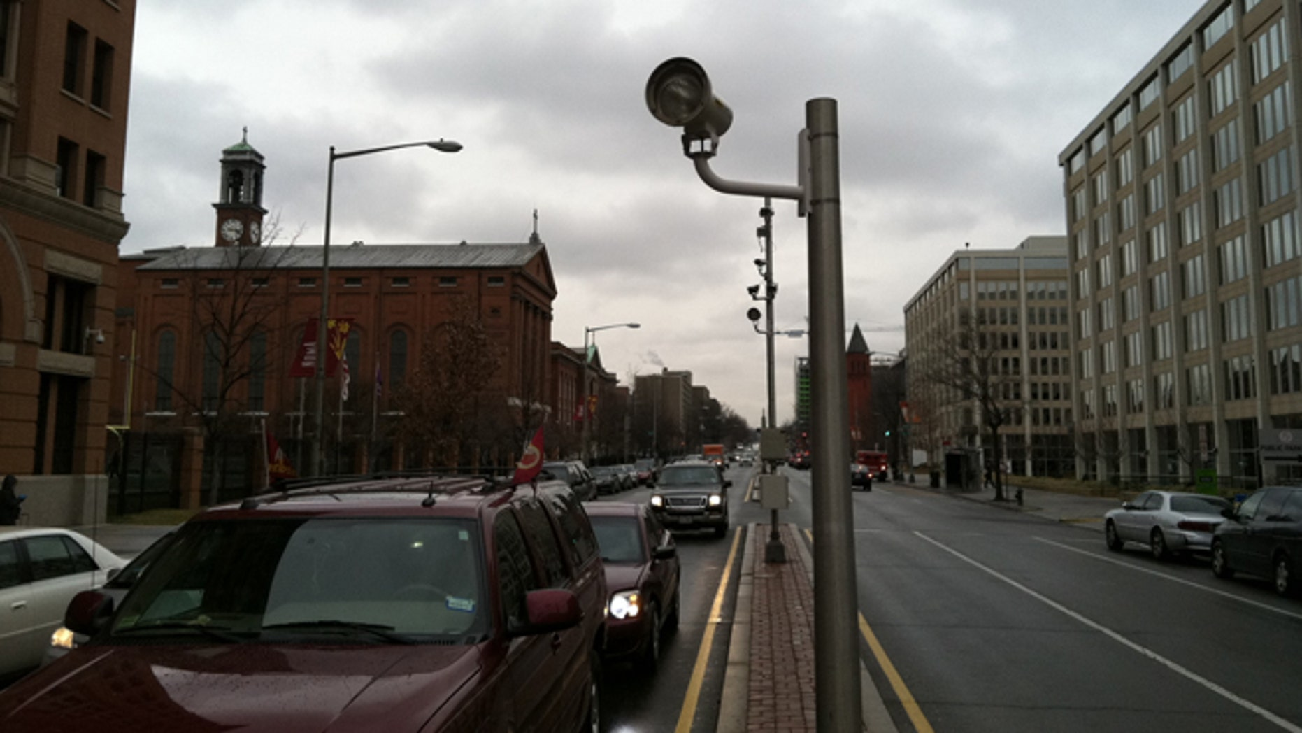 Feb. 22, 2013: Shown here is a red-light camera in downtown Washington, D.C.