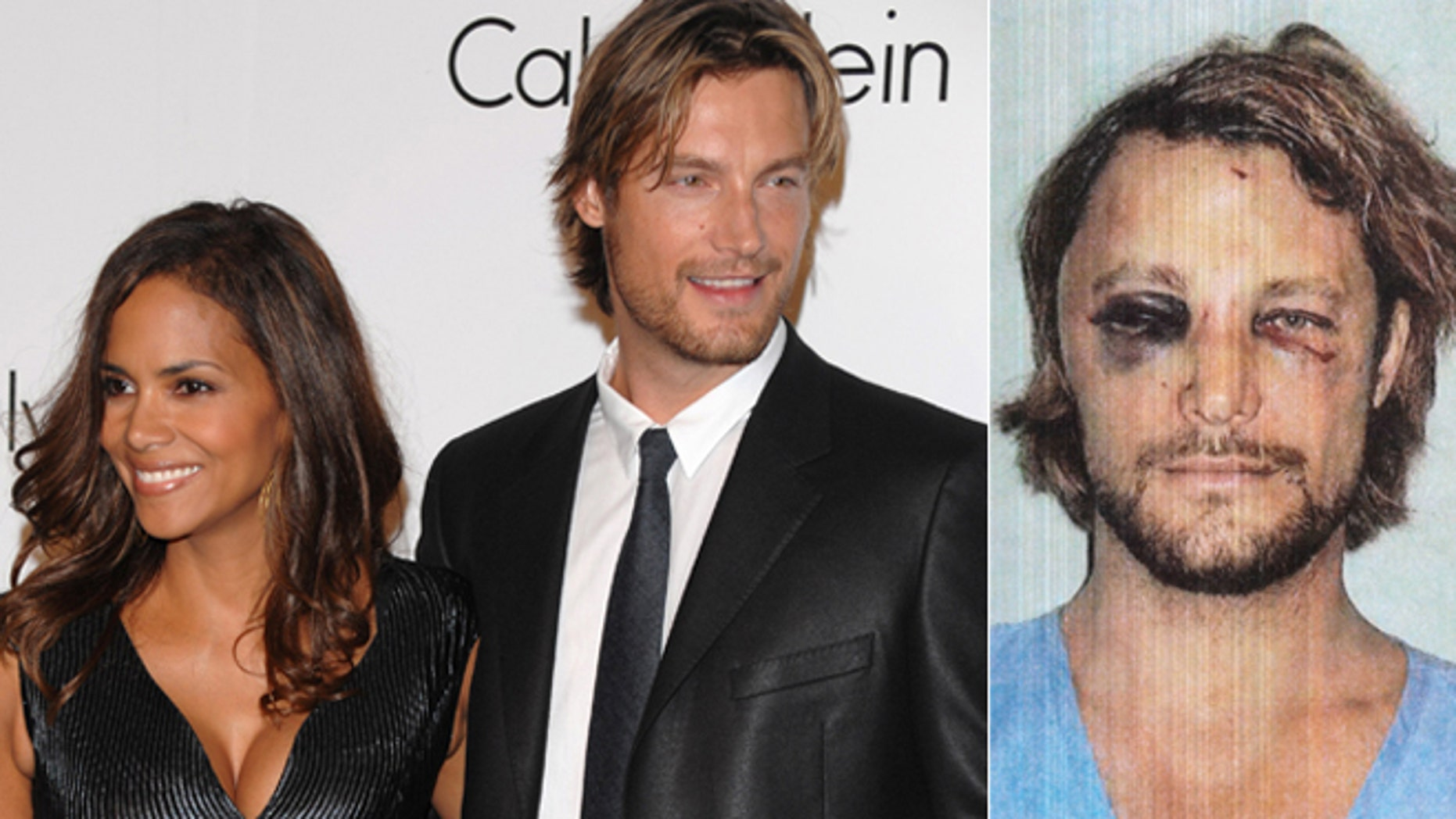 Model Gabriel Aubrey and actress Halle Berry attend the Calvin Klein 40th anniversary party during Fashion Week in New York on Sept. 7, 2008. Gabriel Aubrey after a fight with Berry's fiance on Nov. 22, 2012.