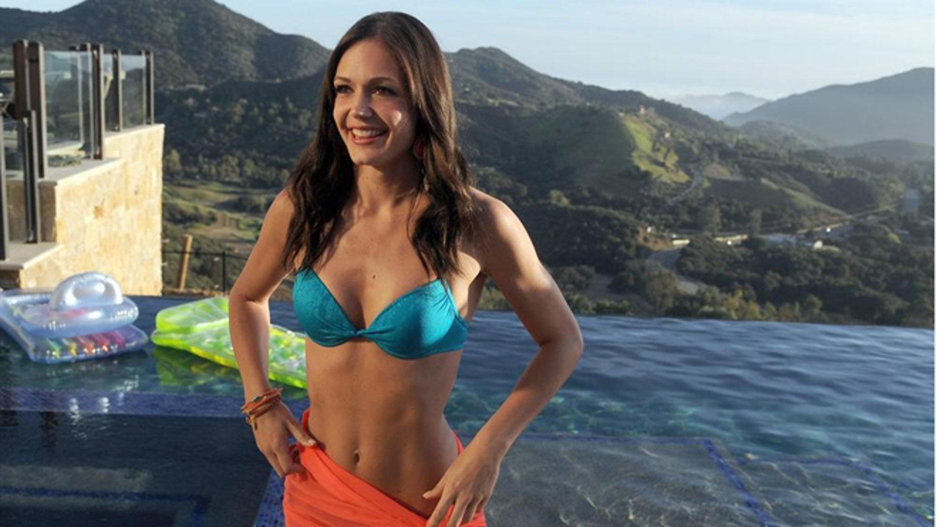 "Desiree Hartsock poses in a bikini during ""The Bachelorette."""