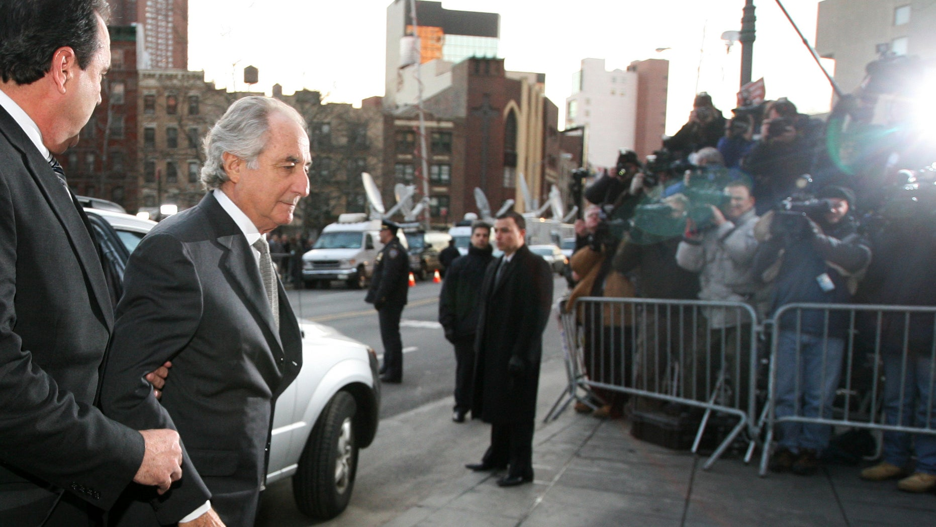 Bernard Madoff arrives at federal court in New York.