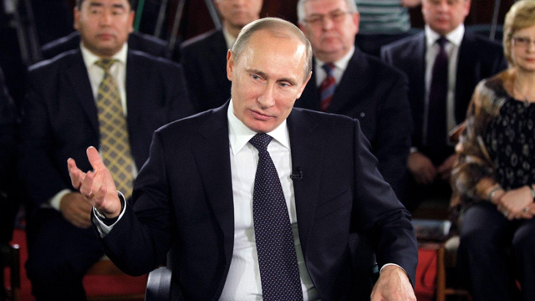 "Dec. 6: Prime Minister Vladimir Putin called his party's seat losses ""inevitable."""