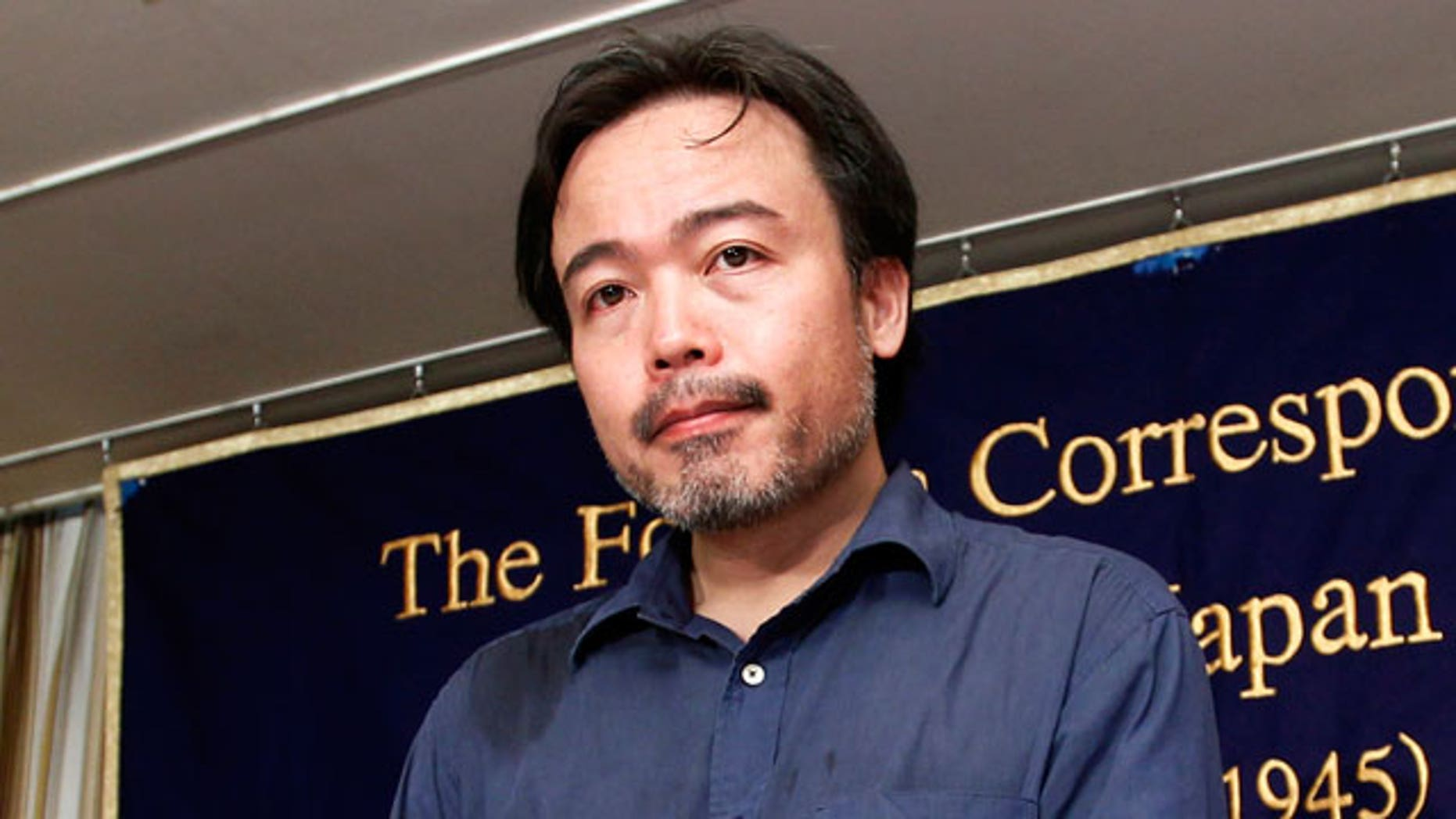 Freed Japanese freelance journalist Kosuke Tsuneoka arrives for a press conference at the Foreign Correspondents' Club of Japan in Tokyo, Tuesday, Sept. 7, 2010. Tsuneoka was kidnapped in April, when he traveled to a Taliban-controlled area in northern Afghanistan, and was released Saturday night to a Japanese Embassy.