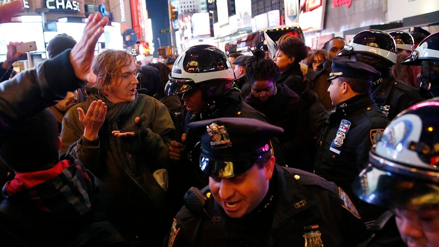 The lawsuit over the NYPD's use of sound cannons stemmed from protests over the chokehold death of Eric Garner in 2014.