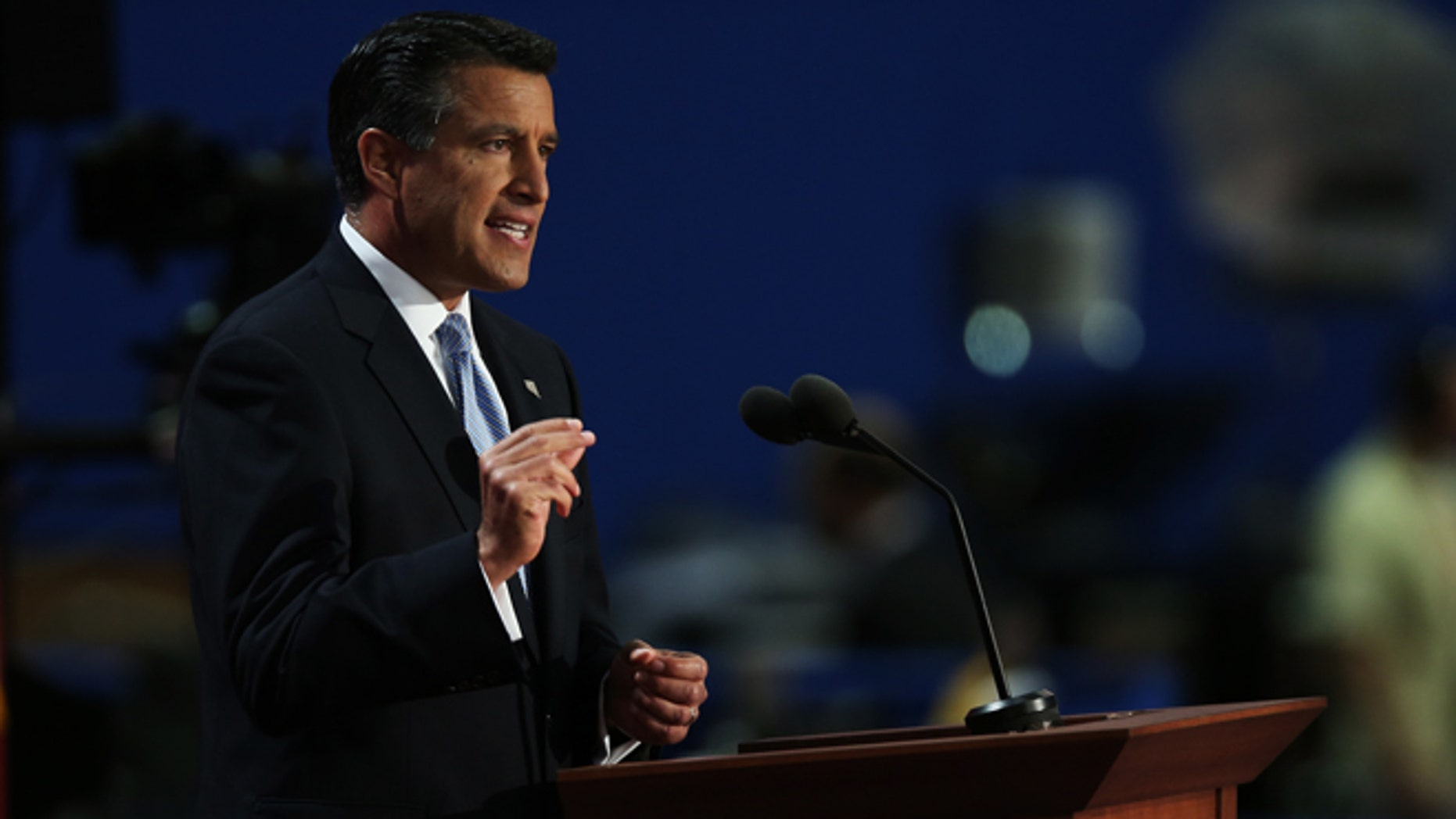 Nevada Gov. Brian Sandoval speaks during the Republican National Convention at the Tampa Bay Times Forum on August 28, 2012 in Tampa, Florida. (Photo by Win McNamee/Getty Images)