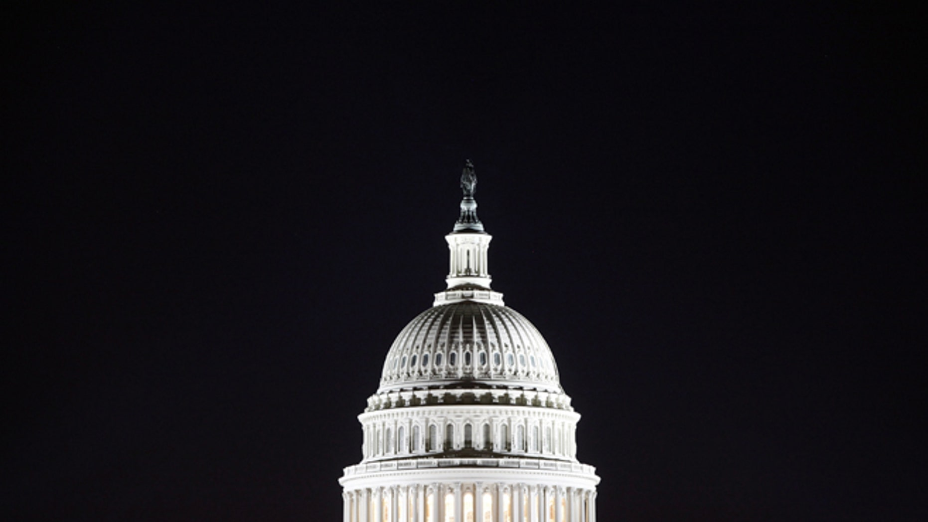 The U.S. Capitol dome before dawn. (REUTERS)