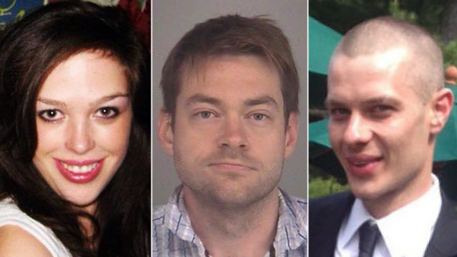 Dellen Millard, middle, and Mark Smich, right, were convicted of murder in the death of Laura Babcock, left.