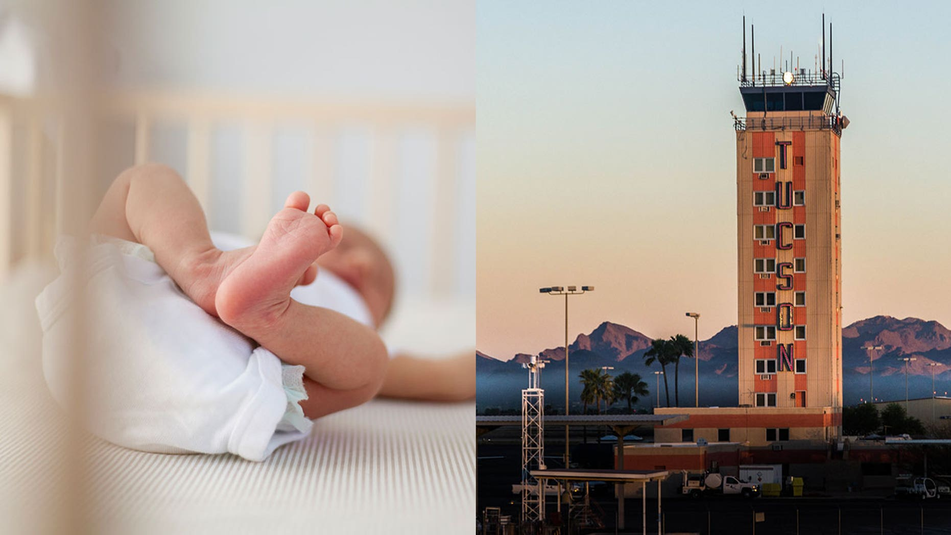 Officials at the Tucson International Airport have confirmed that a newborn baby boy was abandoned in a pre-security area on Sunday night.