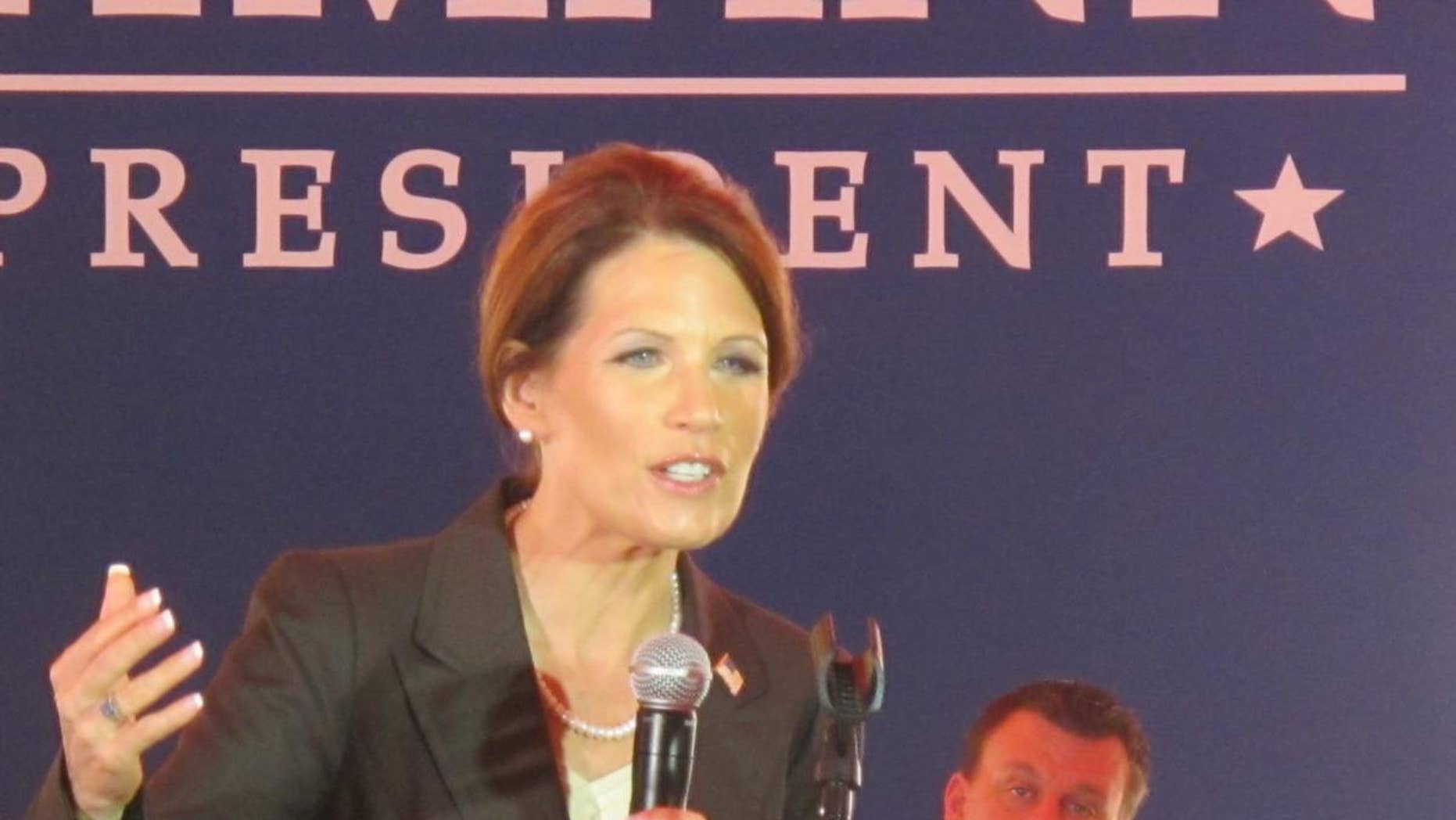 Minnesota Rep. Michele Bachmann speaks at a campaign event in Columbia, SC July 19. (Fox News Photo)