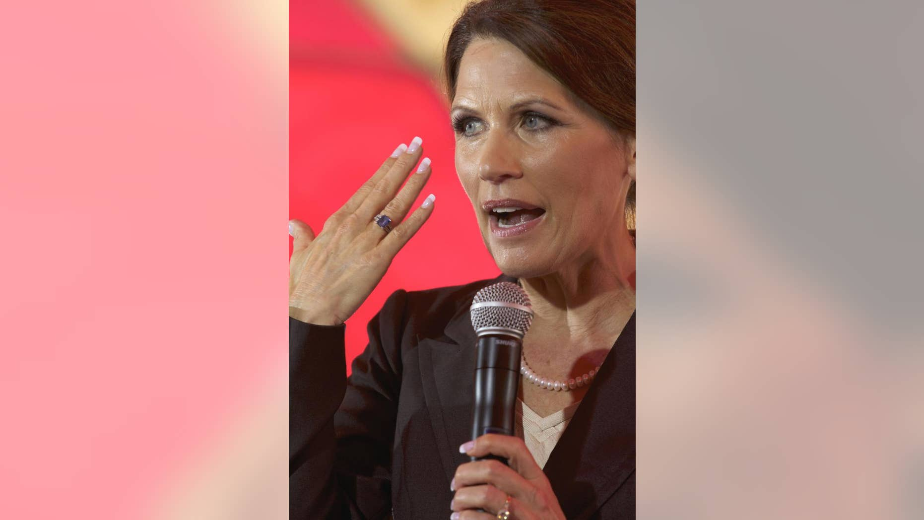 Republican presidential candidate, Rep. Michele Bachmann, R-Minn., speaks to the South Carolina Christian Chamber of Commerce at Christ Central Ministries in Columbia, S.C., Tuesday, July 19, 2011. (AP Photo/Brett Flashnick)