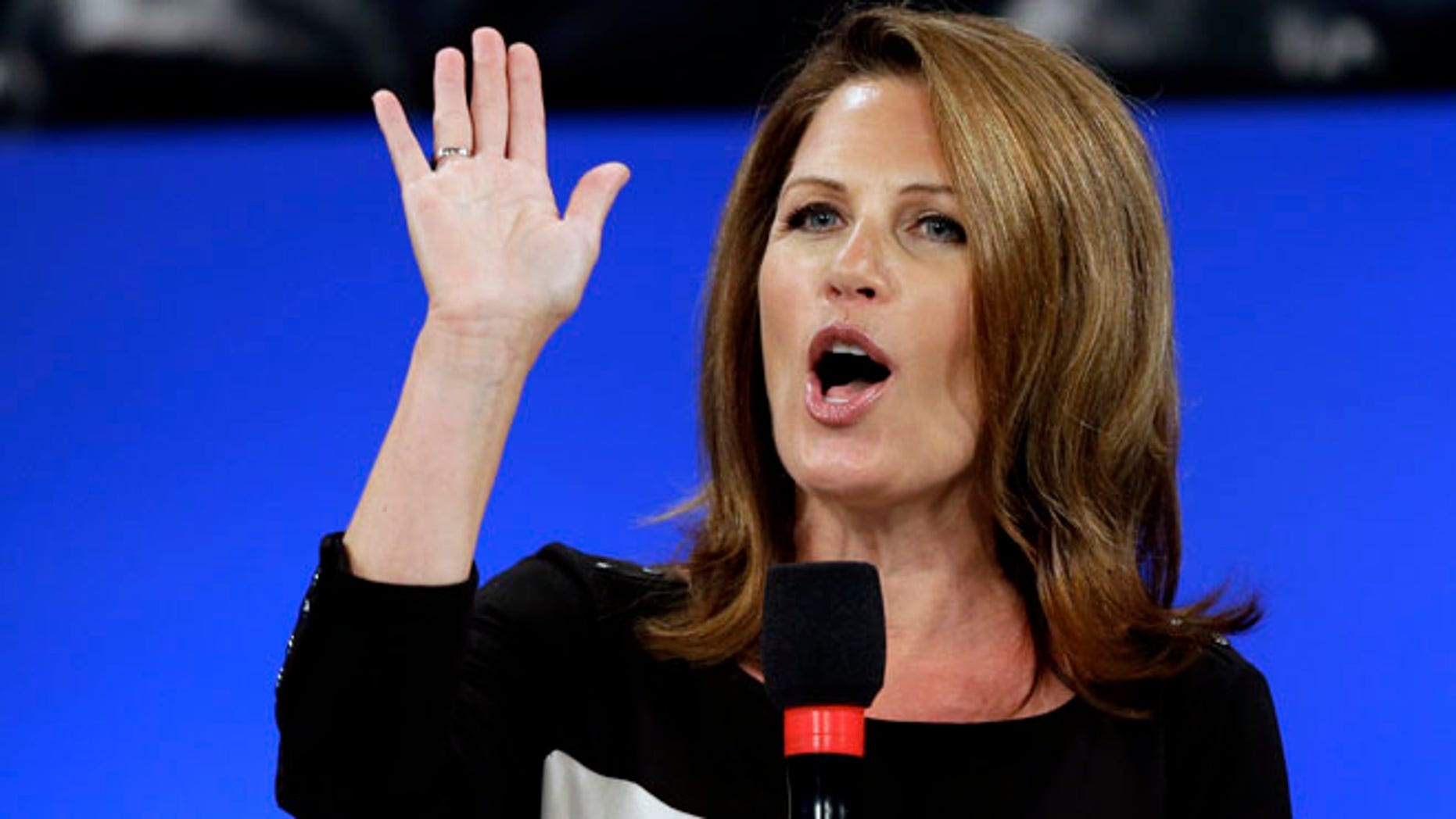 Aug. 26, 2012: Rep Michele Bachman, R-Minn., speaks during a Unity Rally in Tampa.