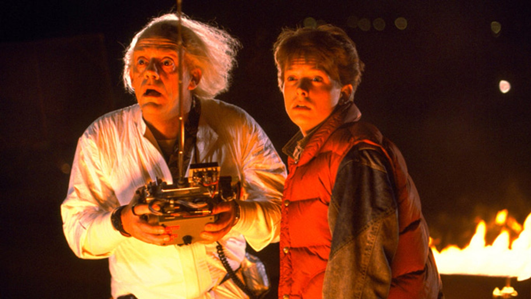 """In the movie """"Back to the Future,"""" Doc Brown builds a time machine into a Delorean."""