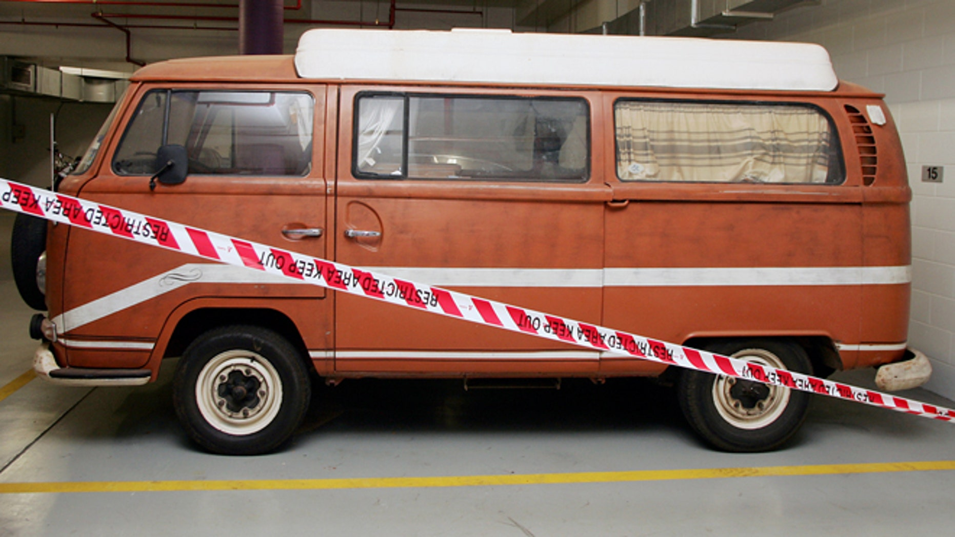 The van belonging to Falconio and Lees.