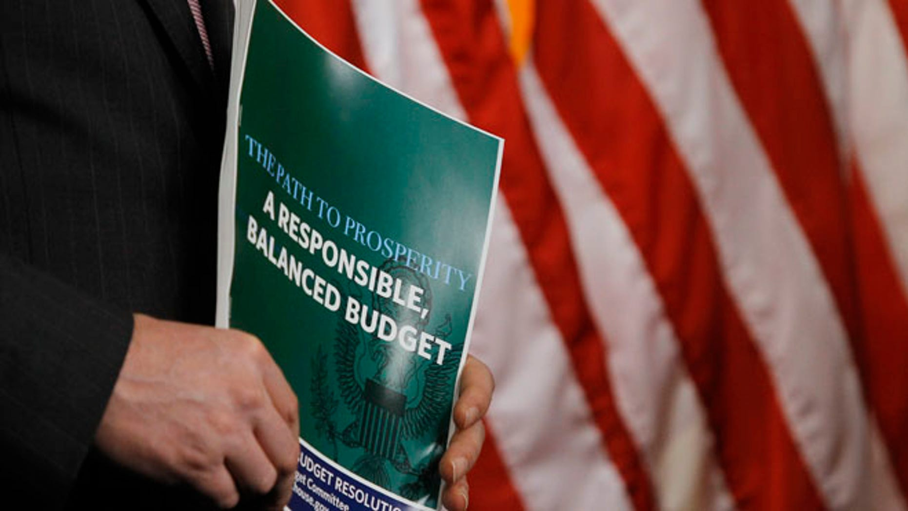 FILE: March 12, 2013: A copy of the Republican Party's proposals for a balanced budget presented on Capitol Hill, in Washington, D.C.