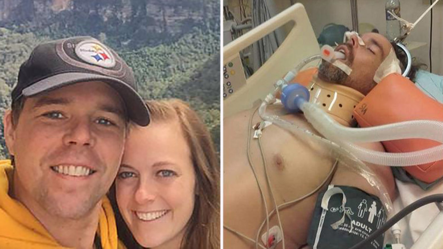 Jeff Swedenhjelm, 40, is paralyzed from the chest down after falling 33 feet from a roof.