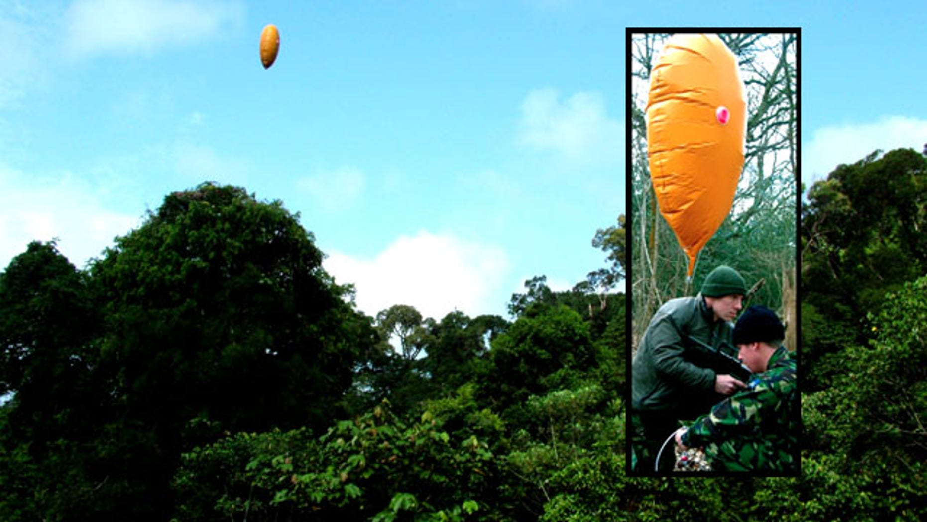 A bright orange balloon seems like the last thing a Special Forces operator would want in the jungle. Military supply company BCB argues it just might save his life.