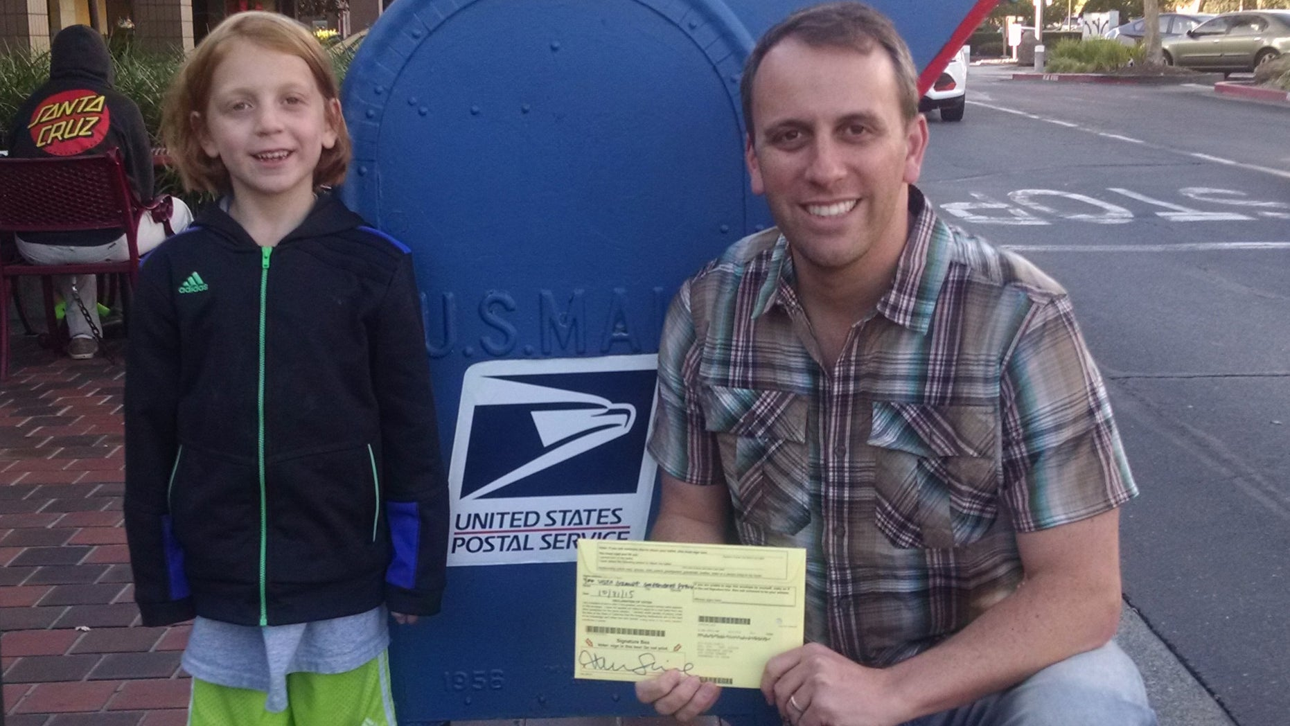 UNDATED: California Assemblyman Marc Levine with daughter Meredith and a 2015 ballot. (Courtesy of Marc Levine)